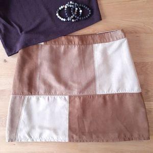 Hollister Microsuede Patchwork Mini Skirt